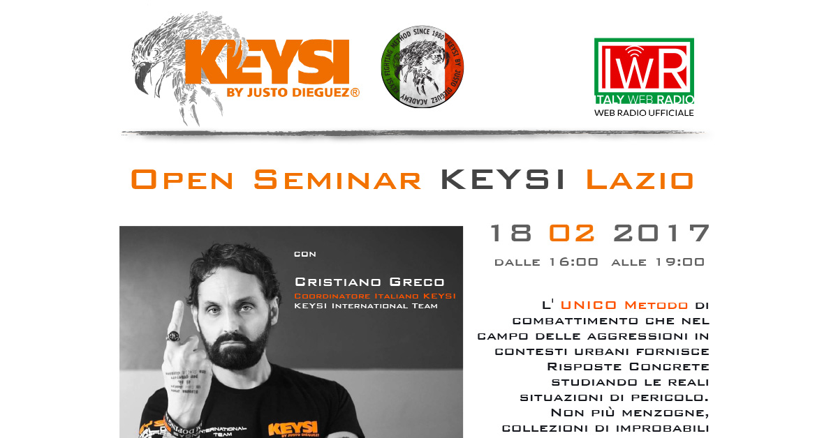 Open Seminar KEYSI Lazio 18/02/2017 - Italy Web Radio Partner Ufficiale