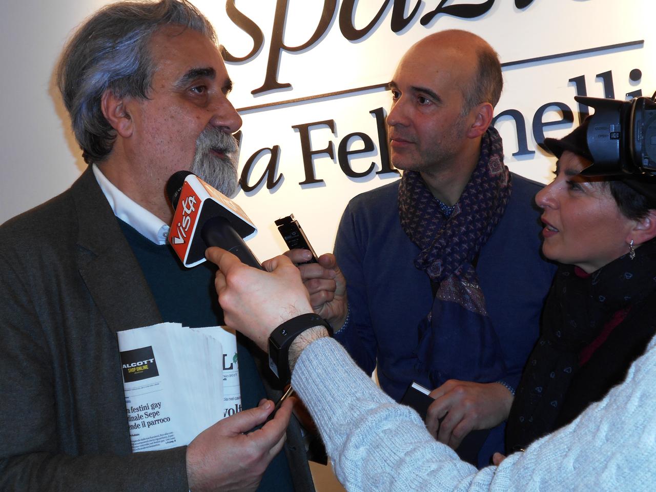 Peppe Vessicchio il maestro, con Claudio e Diana di Italy Web Radio
