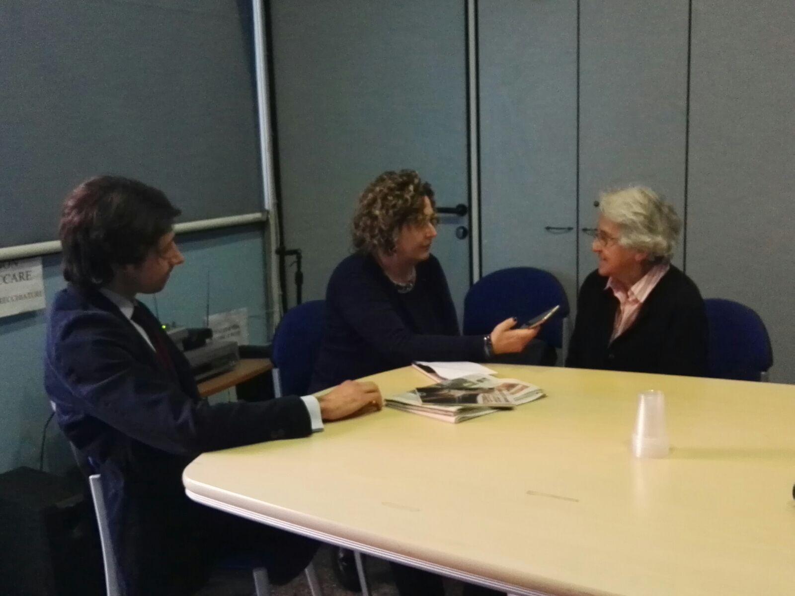 Tiziana e Nicoletta di Italy Web Radio intervistano Mina Welby e Pino Giannini