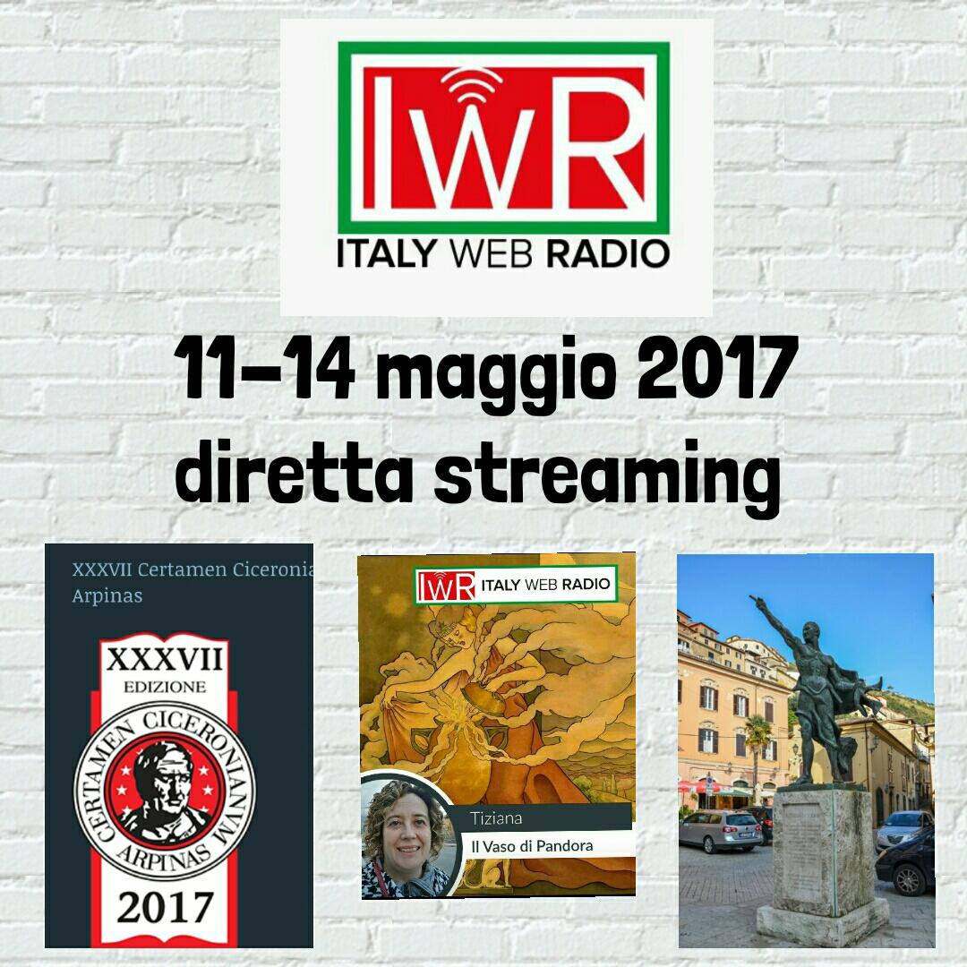 Il Certamen Ciceronianum Arpinas su Italy Web Radio