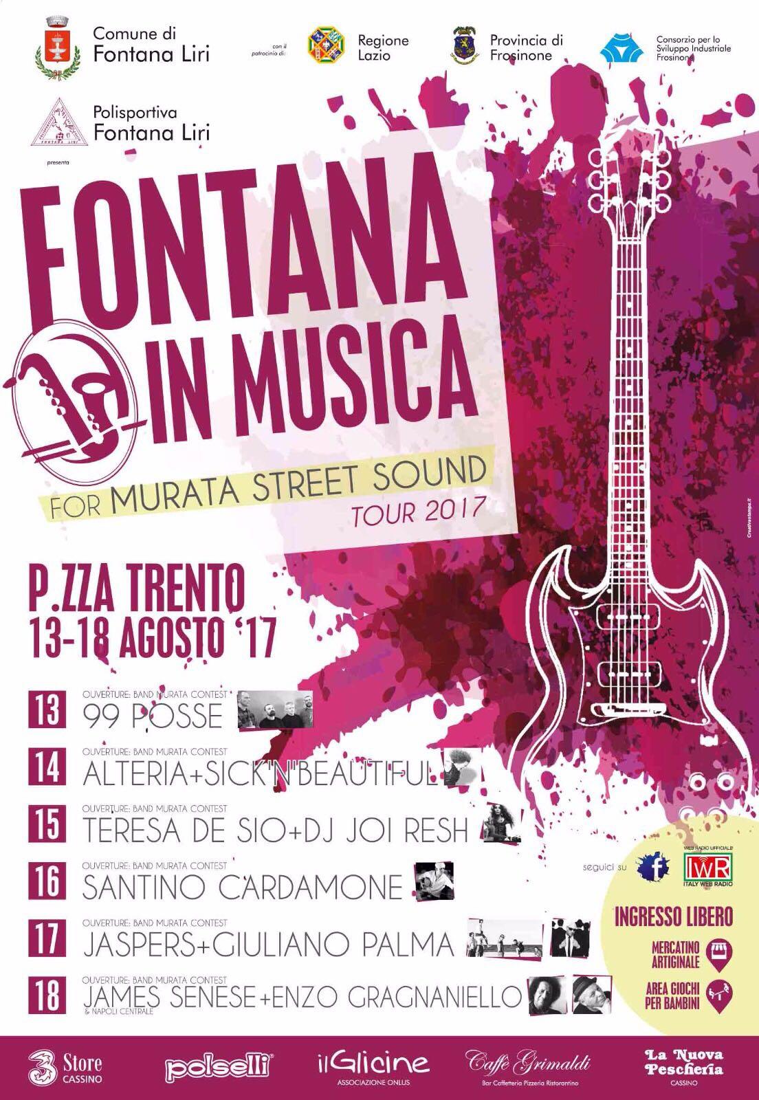 Italy Web Radio è la WEB RADIO UFFICIALE dell'evento FONTANA IN MUSICA